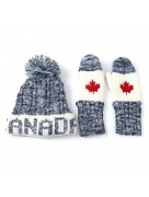 Winter Hat & Mitten Set Navy Blue