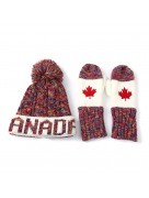 Winter Hat & Mitten Set Red